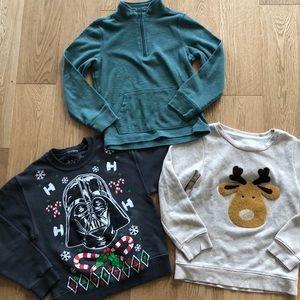 Boys Christmas Sweatshirts and half-zip sweater
